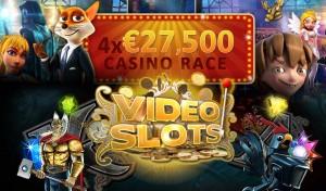 VideoSlots online casino free bonus