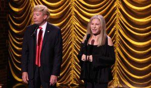 Barbara Streisand and Donald Trump