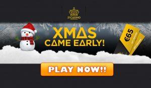21 Casino Christmas Promotion