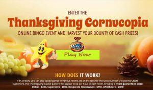 Online Thanksgiving Bingo