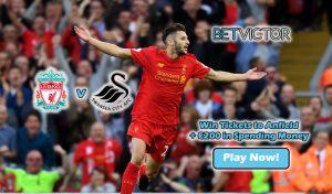 Win Football Tickets - Liverpool v Swansea