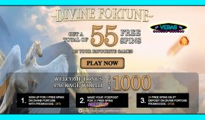Free Spins Bonus - Vegas Mobile Casino (Divine Fortune Slot)