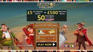 Jackpot Mobile Casino No Deposit Bonus