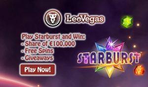 Online Slot Tournament - Starburst Slot - LeoVegas Casino