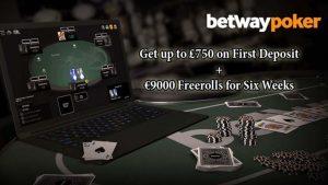 Betway Poker First Deposit Bonus & Freerolls