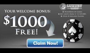 Luxury Casino Review ($1,000 Welcome Bonus)