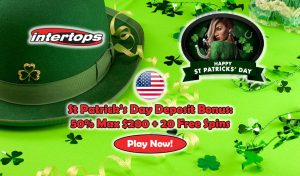 USA Deposit Bonus (Intertops Casino St Patricks Day)