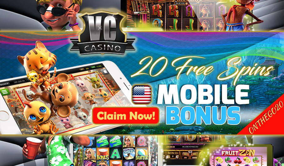Scoop An Easy 20 Free Spin With Usa Mobile Bonus At Vegas Crest Casino