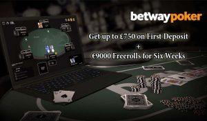 Betway Poker signup bonus