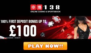 138 Casino Welcome Bonus