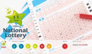 Irish national lottery winning numbers
