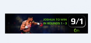 bet on Anthony Joshua vs joseph Parker