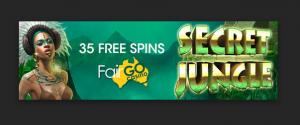 35 free spins on secret jungle