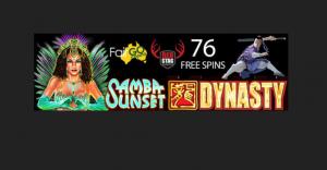 25 free spins on samba sunset